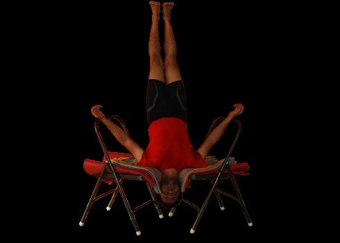 Buy Yoga chairs in Bangalore. Demo by Vinay Siddaiah