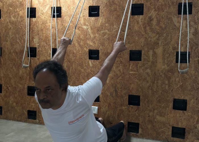 Yoga rope usage at Yogavijnana