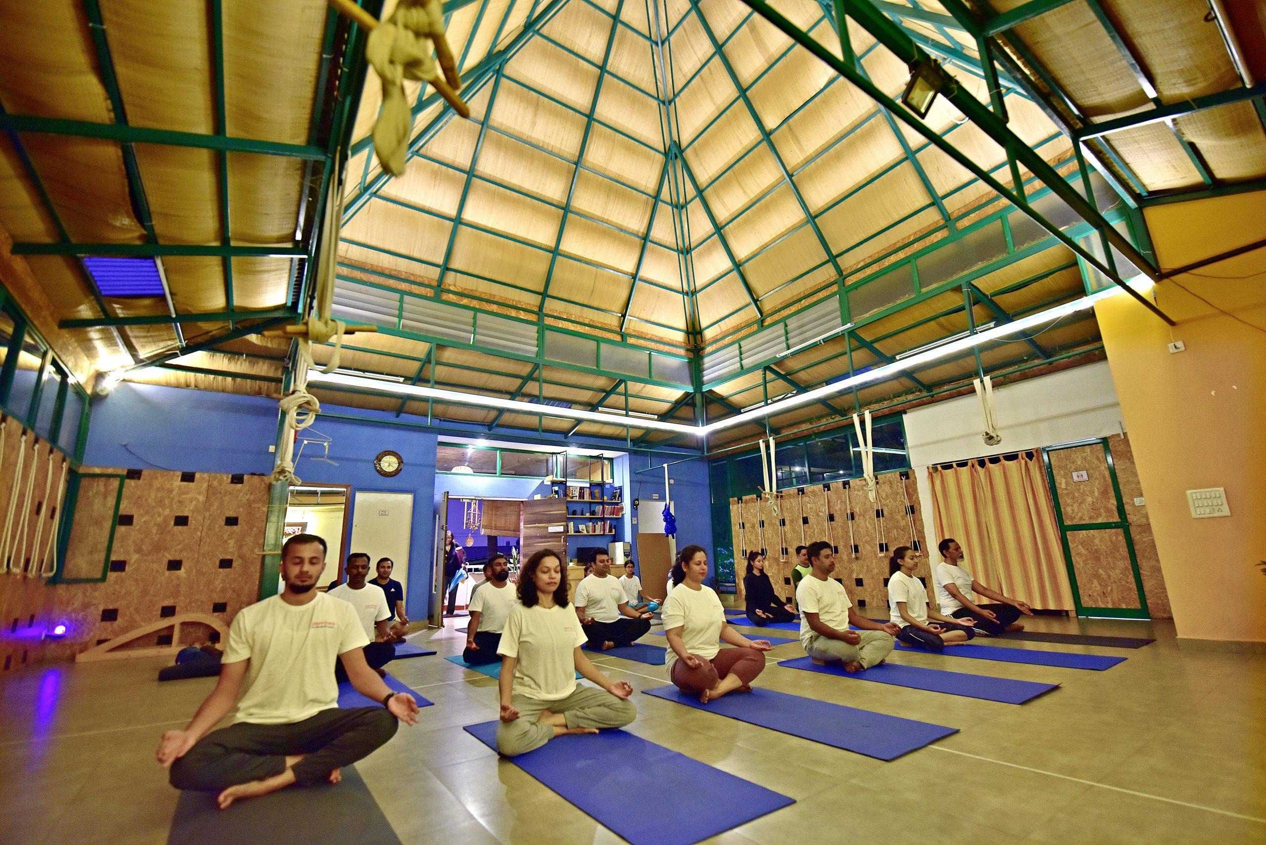 Full moon meditation at Yogavijnana