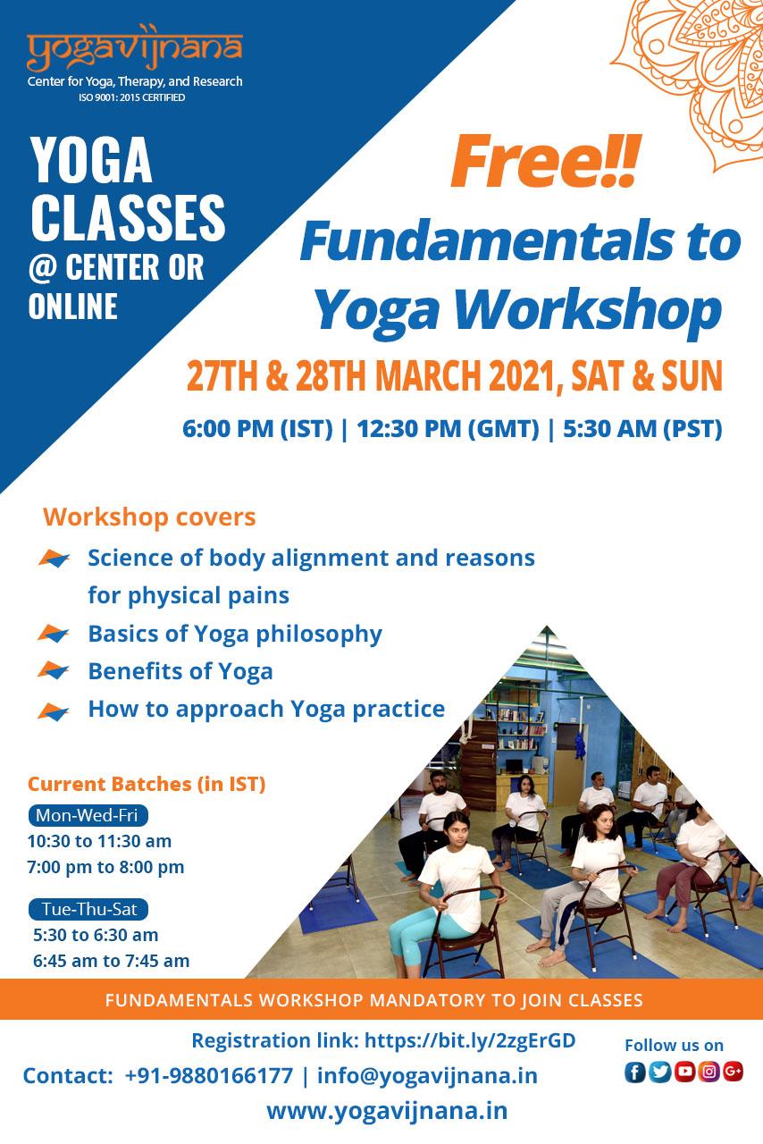 Yoga Introduction workshop at Yogavijnana