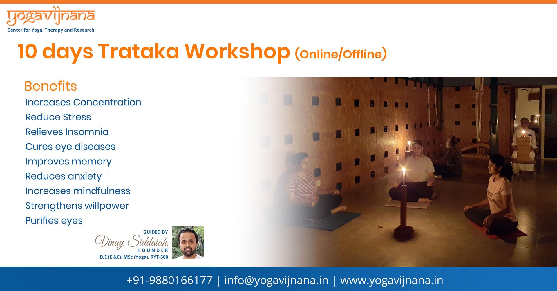 Trataka session in Bangalore