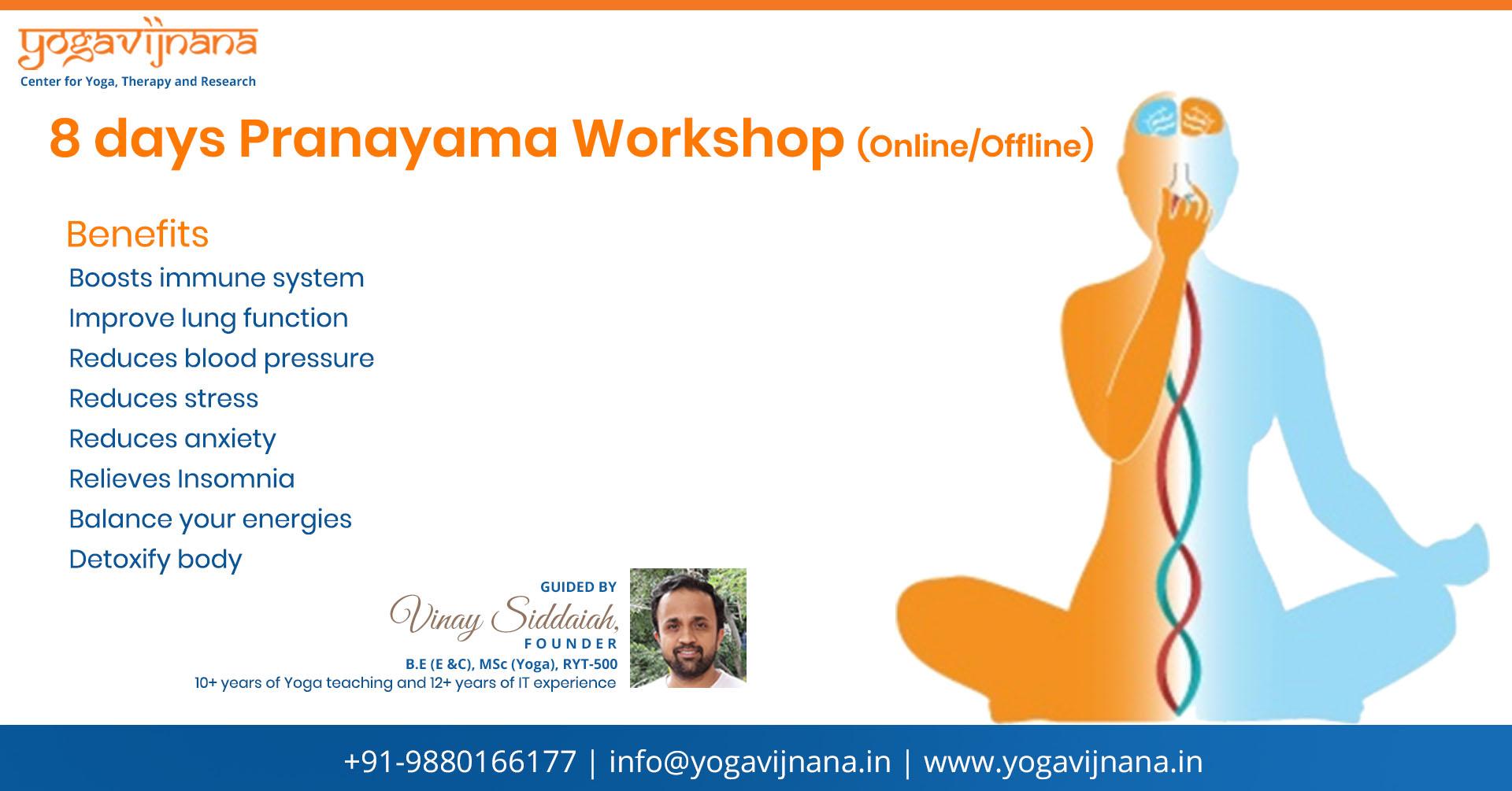 8 days Pranayama Workshop by Vinay Siddaiah